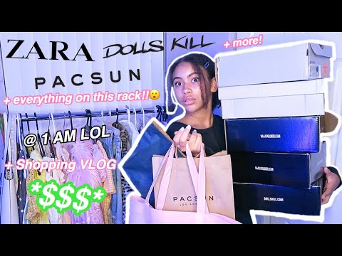 HUGE TRENDY $1,000 Summer / Back To School TRY-ON Clothing Haul + Shopping VLOG!