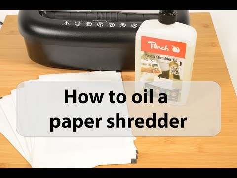 Shredder oil and lubricant sheets - how to maintain a paper shredder