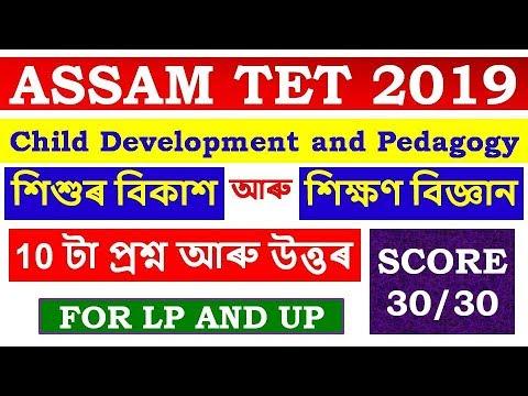 Child Development and Pedagogy ASSAM TET 2019