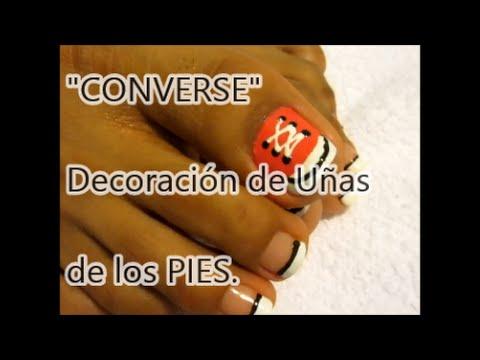 Decoraci n de u as de los pies inspiraci n converse easy for Decoracion de unas converse