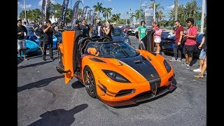 Halloween Supercar Run 2018 120+ Supercars Arriving to Lamborghini Miami - Get Ready for CRAZY DAY