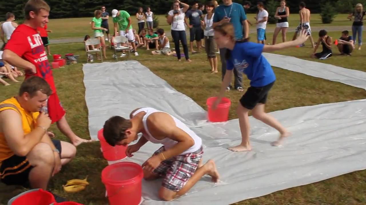 Camp Water Games   Round 2  Summer Camp Water Games    YouTube