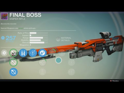 "Become The Monster! - Destiny Multiplayer ""Final Boss Sniper Gameplay"" - (Legendary Gun Final Boss)"