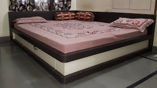 Corner bed | Wooden bed design | Indian bed designs