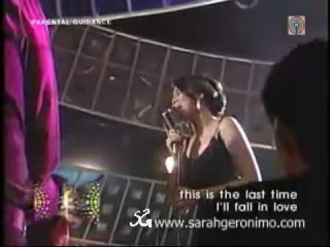 Sarah Geronimo sings The last time I fall in love  (ASAP)