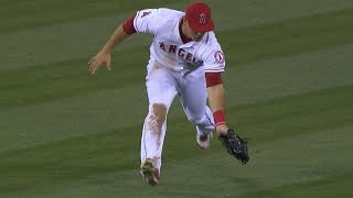 Trout nabs runner at home after challenge