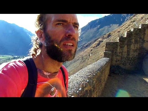 Exploring Incan Ruins in the Andes of Peru (Ollantaytambo)