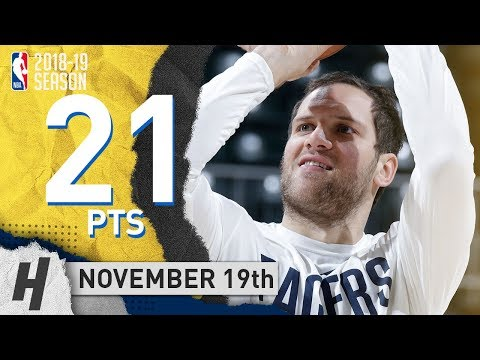 Bojan Bogdanovic Full Highlights Pacers vs Jazz 2018.11.19 - 21 Pts, 2 Reb, 2 Steals!