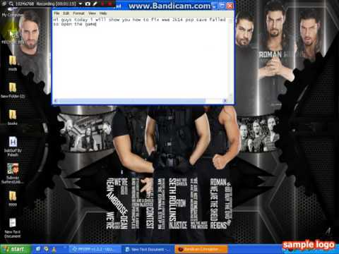 How to fix wwe 2k14 psp save failed problem