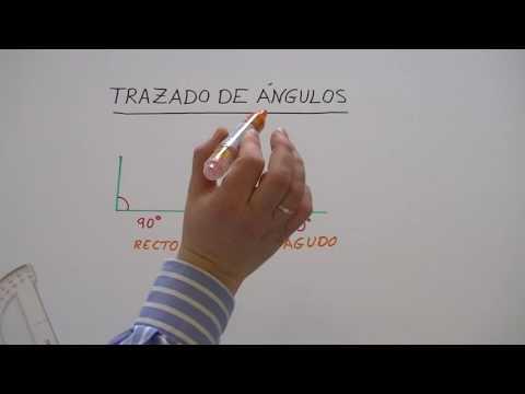 Trazado de ángulos. Aprender a medir ángulos con el transportador