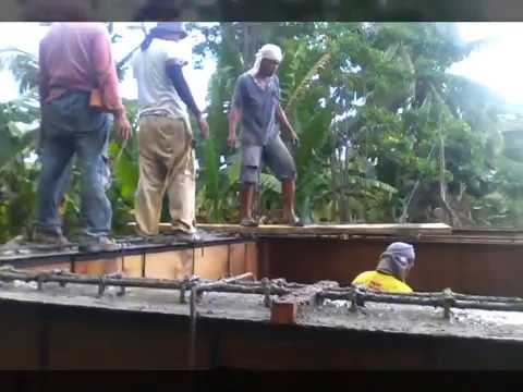 Building a house in Southern Leyte Philippines part 10. 1st floor beams part 1
