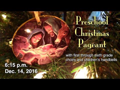 Preschool Christmas Pageant