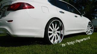 White on White Infiniti Q70 on Forgiato Wheels North Ms Whipz Car Show