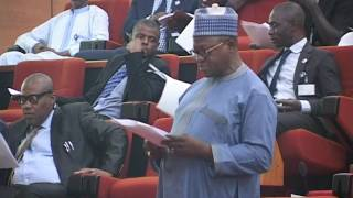 16th June 2016,  Senator Joshua Dariye  Plateau West  reads the Report of the  Committee on Public P