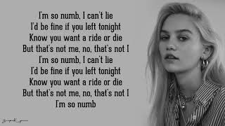 Numb - Carlie Hanson (Lyrics)