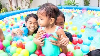 Nora and Friends Playing in Swimming Pool