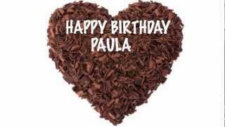 Paula - chocolate - Happy Birthday