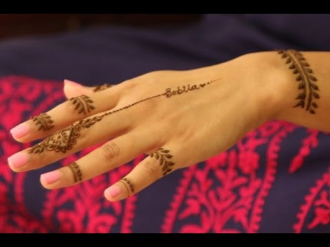 Best Basic Beginners Modern Arabic Henna Tutorial