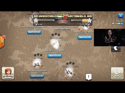 CLASH OF CLANS- BEST CLAN WAR| KHADIZA featuring BD UNBEATABLES|