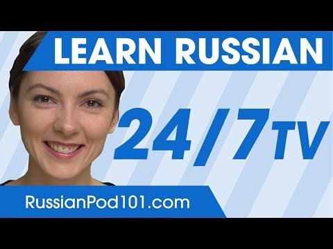 Learn Russian 24/7 With RussianPod101 TV