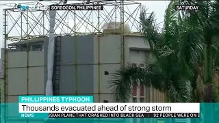 Philippines Evacuates Thousands Of People Ahead Of Strong Storm