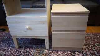 In 32 seconds: Ikea TARVA Nightstand Assembled