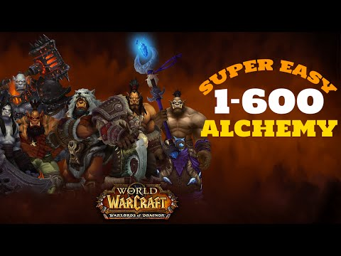 Warlords of Draenor - Alchemy 1-600 Super Easy!