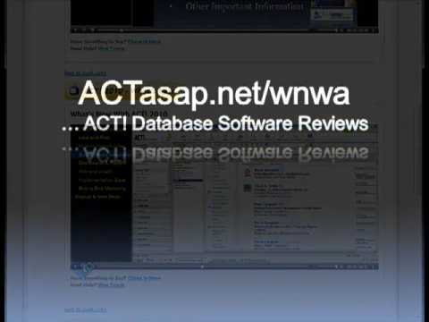 ACT By Sage Database Software Reviews (ACT! 2010 And Beyond)