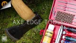 Die Werkzeuge, um Reprofile eine Axt Edge