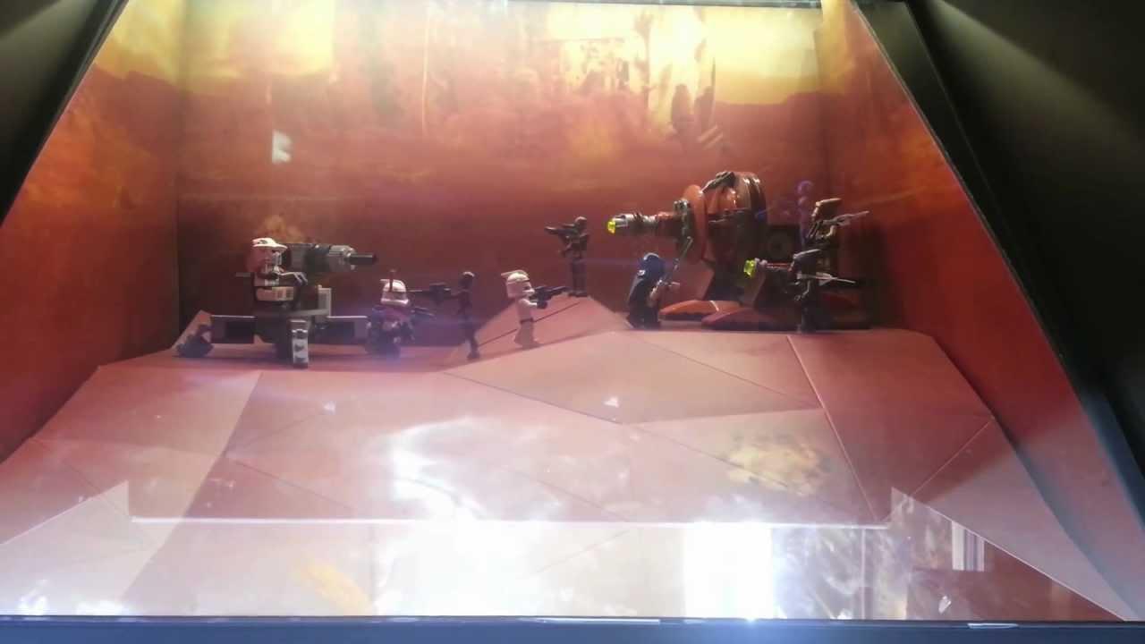 Lego Star Wars Vitrine De Presentation Avec Animation En