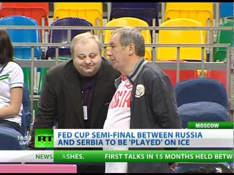 "Tennis on ice! Fed Cup semi-final between Russia and Serbia to be ""played"" on ice"