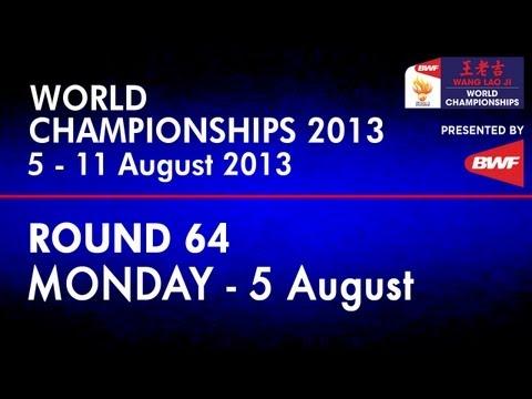 R64 - MS - Lin Dan vs Sattawat Pongnairat - 2013国际羽联世界锦标赛