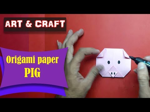 DIY  How to make an origami paper PIG || Art & Craft || Open Mind 🎊