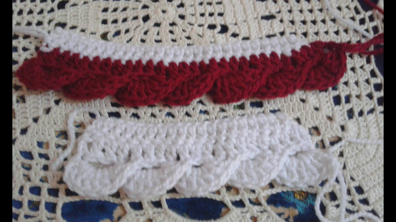 Border crochet Knitting Crochet border fringe - YouTube