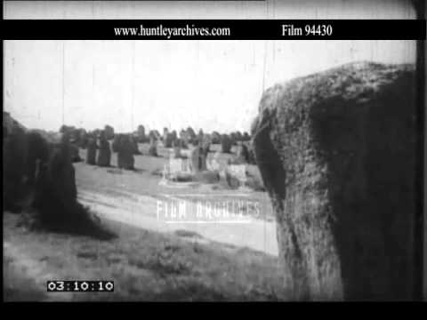 Carnac Stones of Brittany.  Archive film 94430