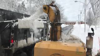 How to fill a dump truck in Northern Maine with snow in 48 seconds