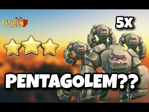 PENTAGOLEM | Mass GOLEM | Th9 NEW 3 STARS WAR ATTACK Strategy | O.P STRATEGY | Clash Of Clans