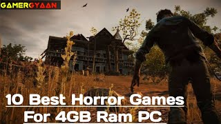 Top 10 Horror Gaṁes For 4GB Ram PC |Lowend PC