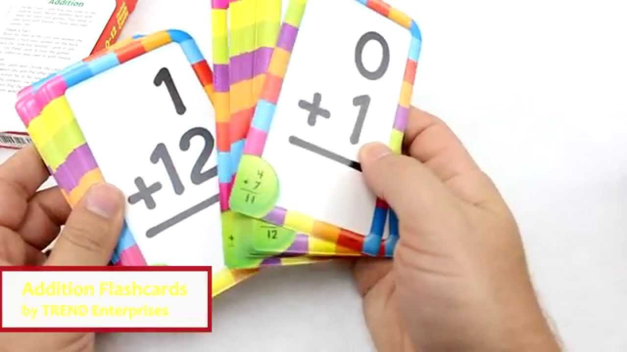 Addition Flashcards by TREND Enterprises REVIEW T53101 YouTube
