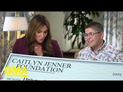 Caitlyn Jenner surprises transgender student with scholarship | GMA