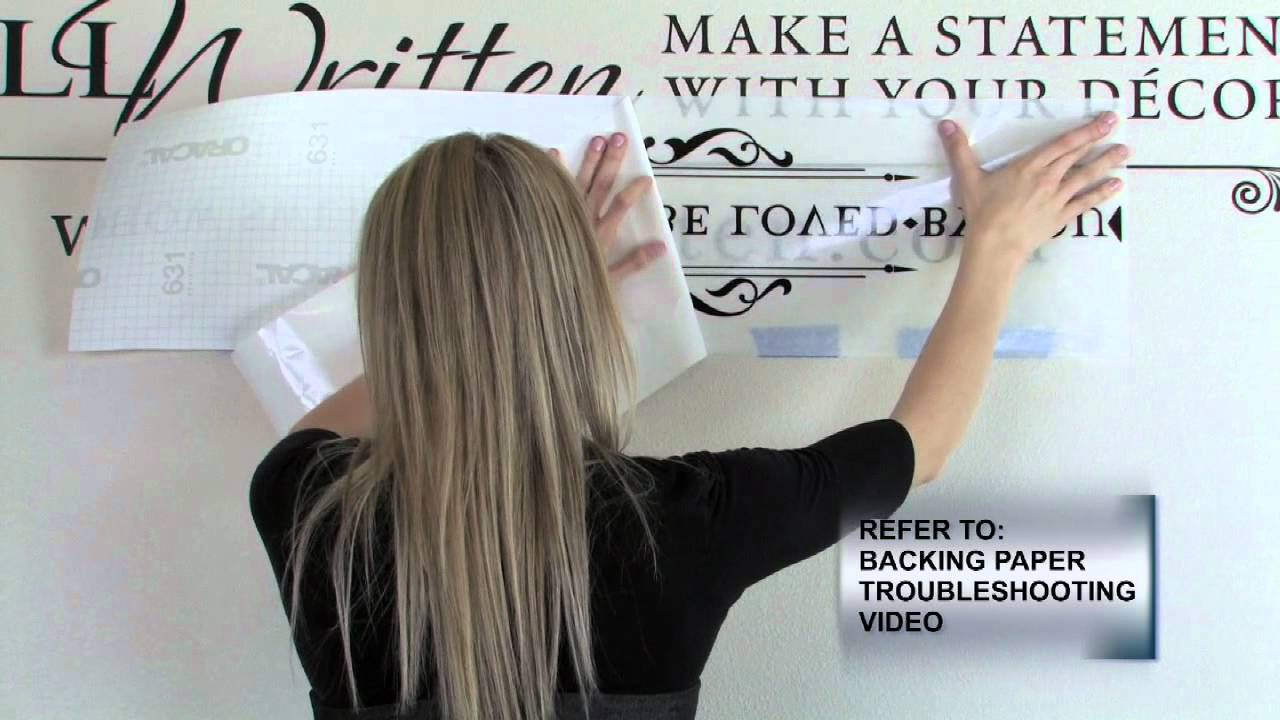 How To Apply Vinyl Wall Quotes Video B Hinge Application - How do you put up vinyl wall decals