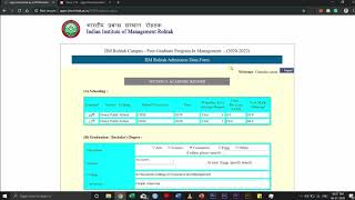 How to fill IIM Rohtak's PGP Admission Form