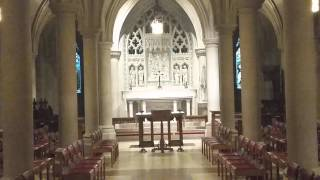 Pipe organ playing in the crypt at the Washington National Cathedral