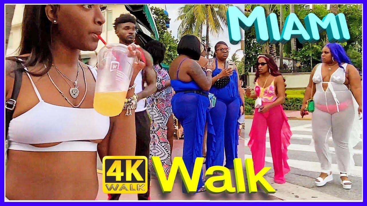 Download [4K] Walk MIAMI BEACH South Beach SLOW TV travel vlogger USA