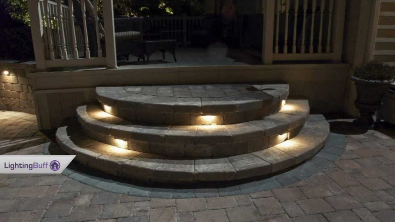 Solar Outdoor Step Lights Outdoor deck step lights youtube workwithnaturefo