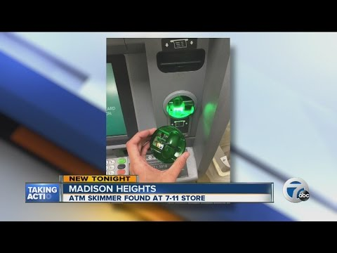 Skimmer found at 7/11 ATM