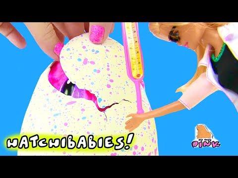 Барби Доктор + СЮРПРИЗ ЯЙЦО ХЭТЧИБЕЙБИЗ! SURPRISE EGG BABY HATCHIBABIES + #Barbie Барби Мультики