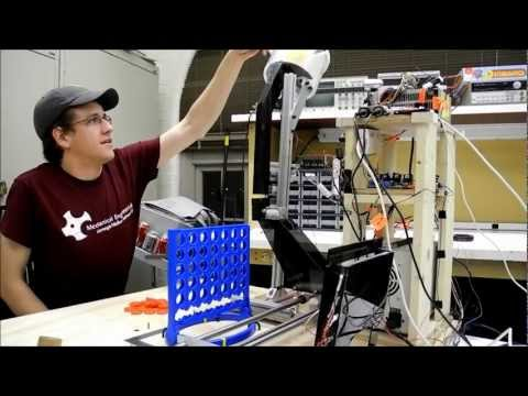 "Connect 4 Machine - ""The Office"" version - CMU Mechatronics"