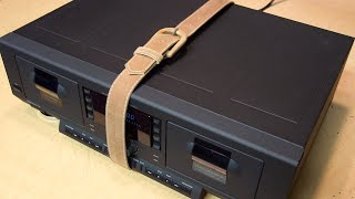 How to replace cassette deck belts the somewhat easy way (Philips FC931)