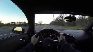 2012 Audi R8 V10 Manual POV Test Drive